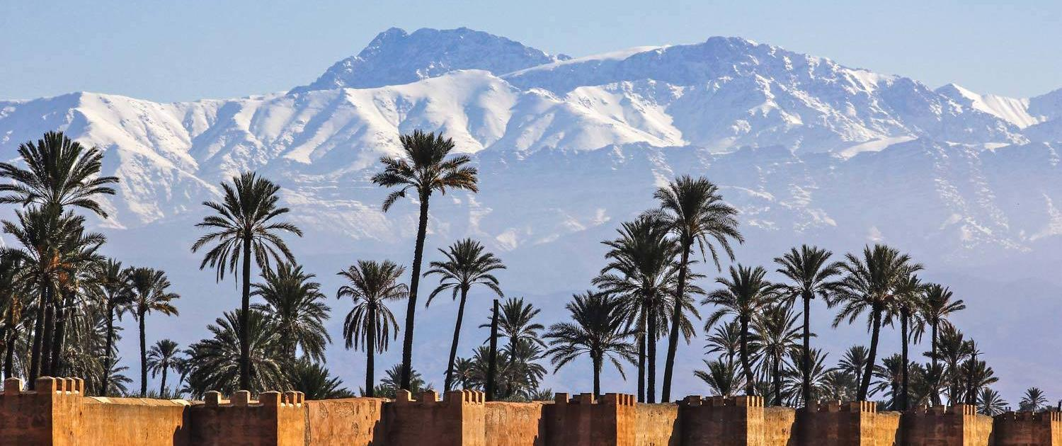 City walls of Marrakech, Morocco