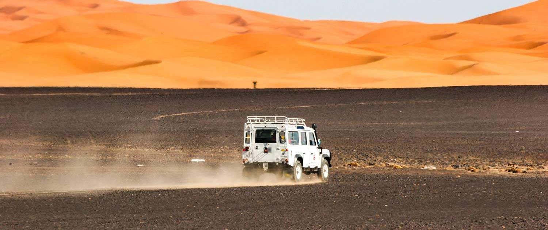 Erg Chegaga in the desert of Morocco