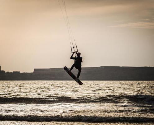 Morocco Atlantic coast kitesurfing in Essaouira