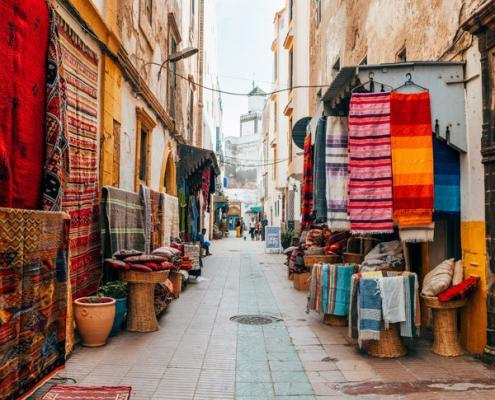 Colorful Old Town (Medina) of Essaouira, Morocco