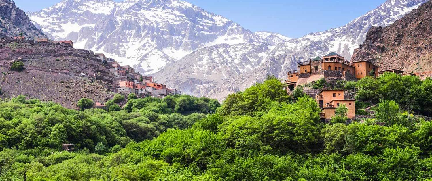 Imlil Kasbah in the Atlas Mountains, Morocco