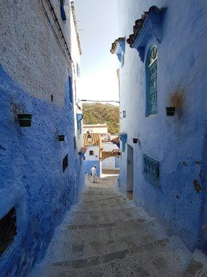 Marokko Mittelmeerküste, Straßenszene in Chefchaoun