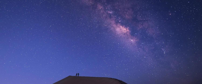 Sternenhimmel übder der Sahara, Marokko