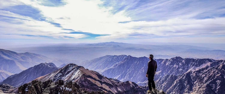 Aussicht von Jbel Toubkal im Atlasgebirge, Marokko