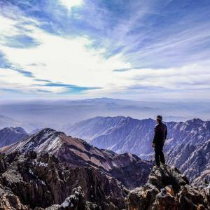 View from Jbel Toubkal in the Atlas Mountains, Morocco