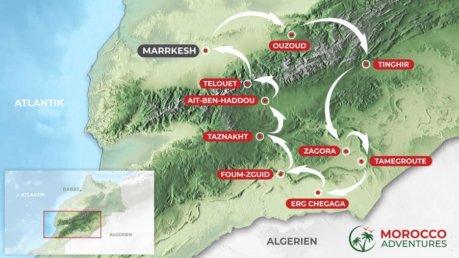 Itinerary South Morocco, 6 days from Marrakesh
