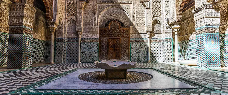 Rundreise Marokko, Medersa Attarine in Fes in Marokko