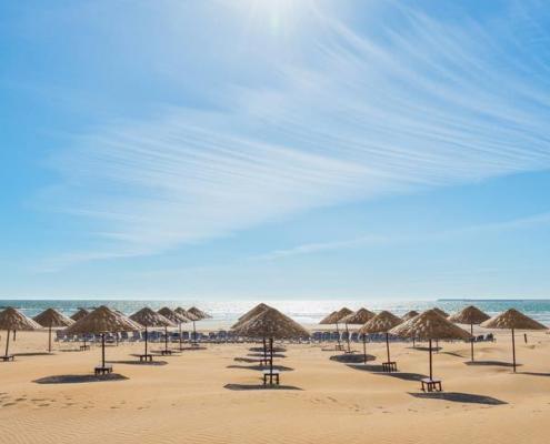 Strand in Agadir, Marokko