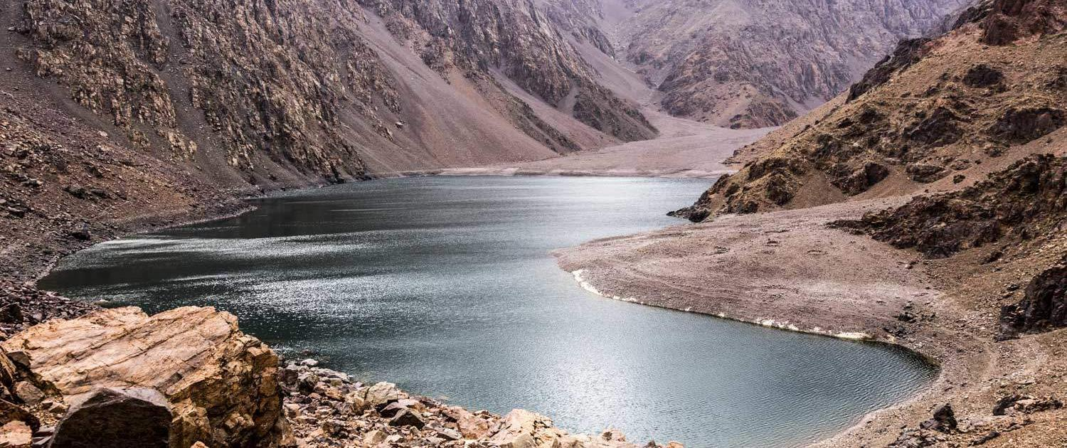 Mountain lake Ifni in Toubkal National Park