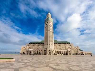 Marokko Kultur und Menschen, Moschee Hassan 2 in Casablanca