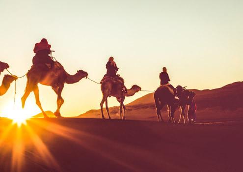Marokko Erlebnisreisen bei Morocco Adventures, Kameltrek durch die Sahara