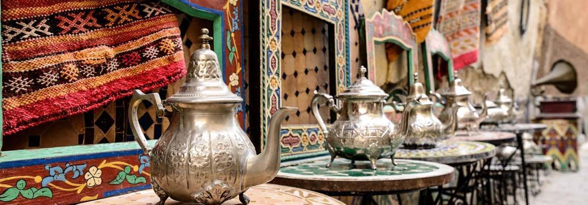 Marokko Kultur und Menschen, Souk in Marrakesch