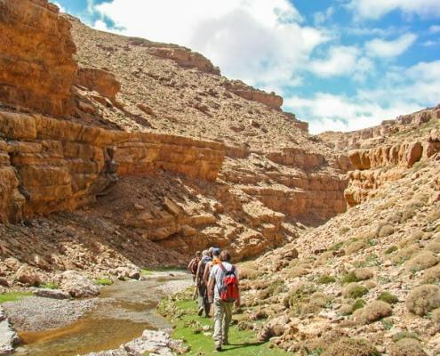Hike through the mountains of the Atlas Mountains in Morocco